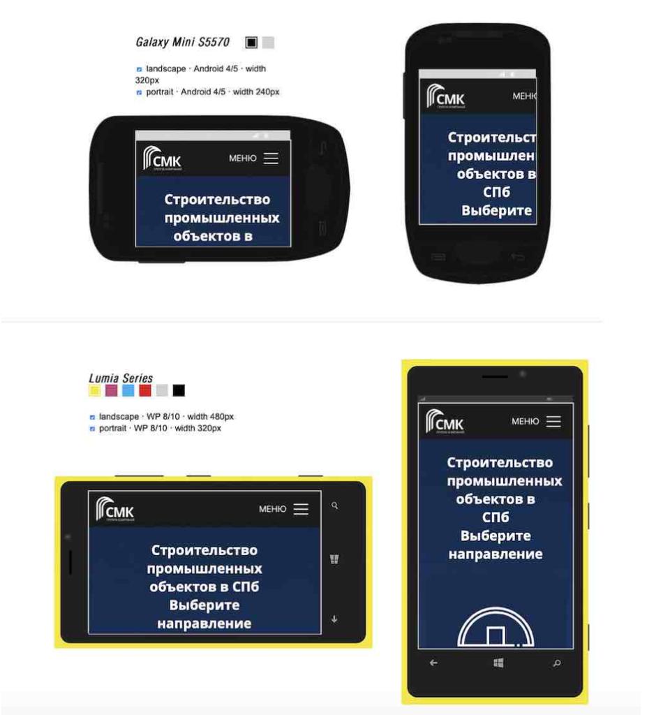 проверить свой сайт на нормальное отображение на разных мобильных устройствах